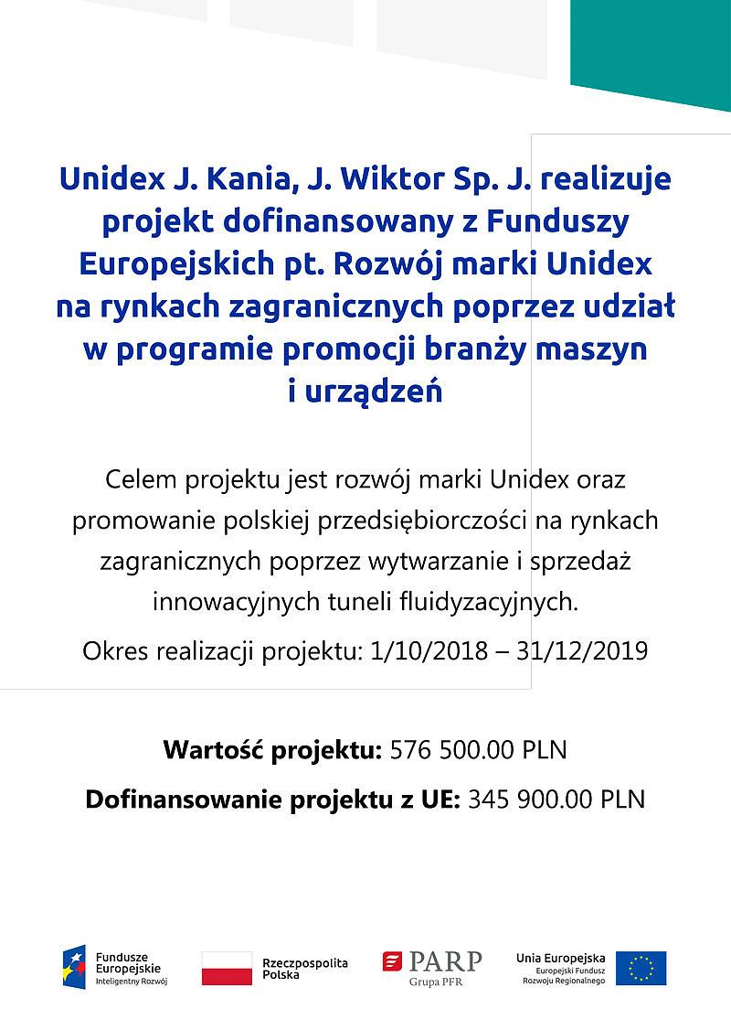 Dotacje z Unii Europejskiej dla Unidex