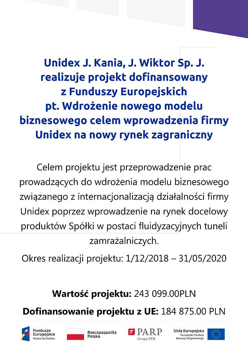 Dotacje z Funduszy Europejskich dla Unidex