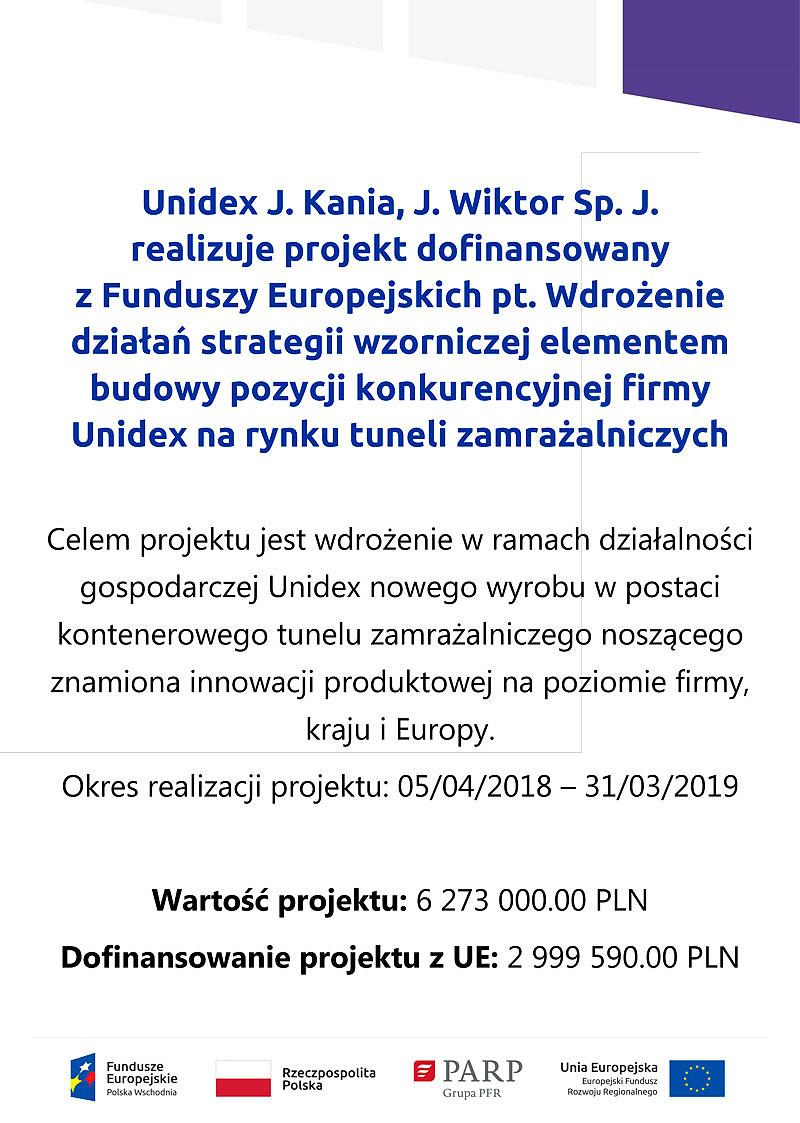 Unidex - Projekt realizowany dzięki UE